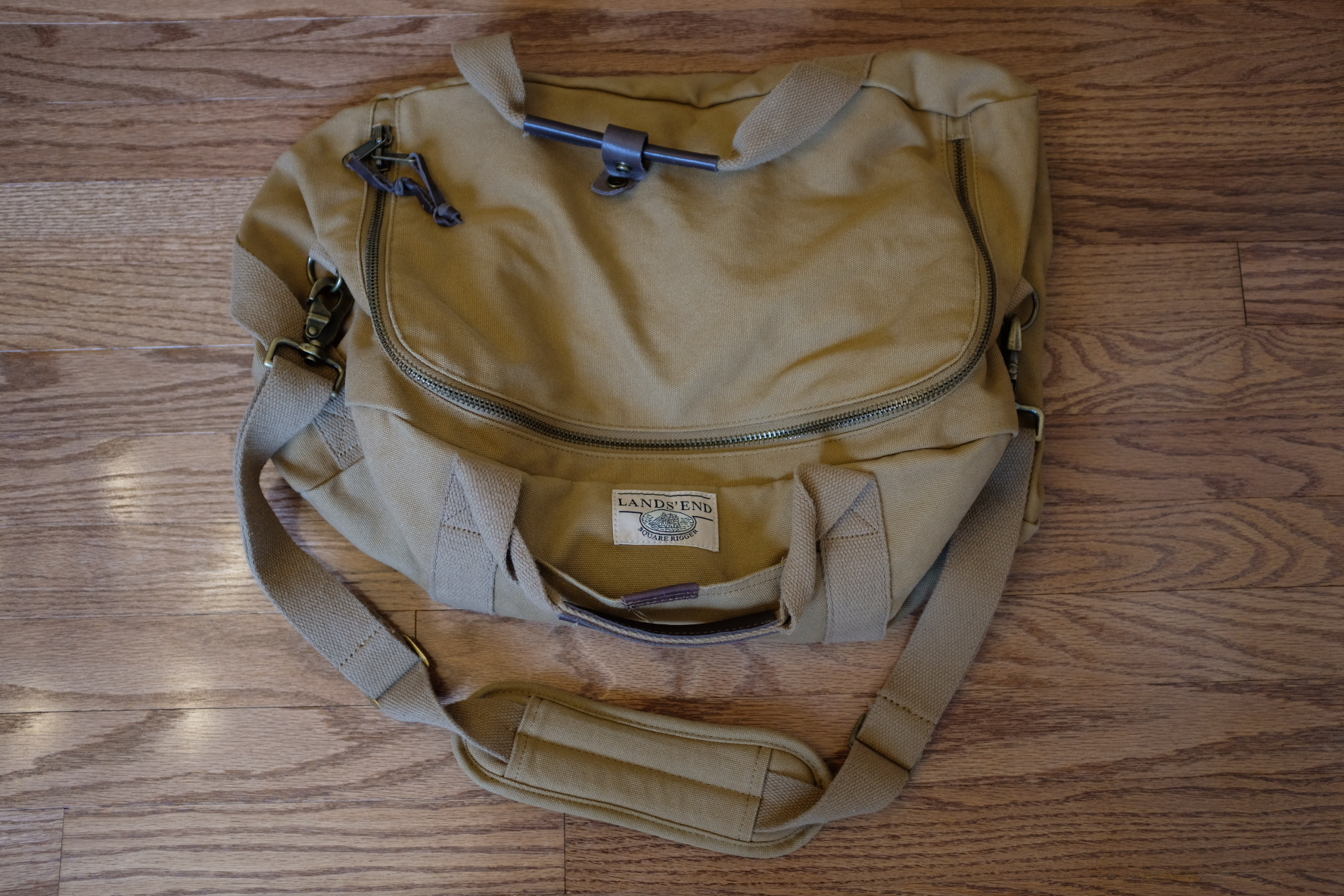 61a7e68a7ee Lands End Square Rigger Canvas Duffel, Good,  25 SOLD
